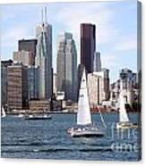 Downtown Skyline Of Toronto Ontario Canvas Print
