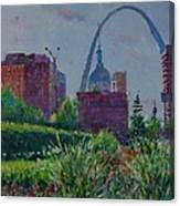 Downtown St. Louis Garden Canvas Print