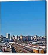 Downtown Tacoma View From The Rail Lines Canvas Print