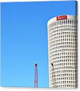 Downtown Tampa Photography - Leaning Tower Of Sykes - Sharon Cummings Canvas Print