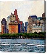 Downtown With Edward Canvas Print