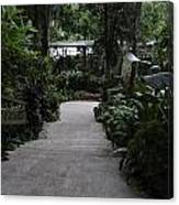 Downward Sloping Part Inside The National Orchid Garden In Singapore Canvas Print