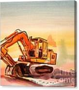 Dozer In Watercolor  Canvas Print