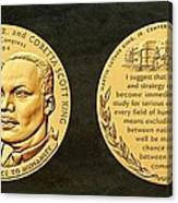 Dr Martin Luther King Jr And Coretta Scott King Bronze Medal Art Canvas Print