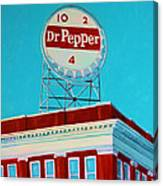 Dr Pepper Sign Roanoke Virginia Canvas Print