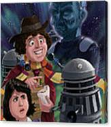 Dr Who 4th Doctor Jelly Baby Canvas Print