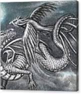 Dragon And Phoenix Canvas Print