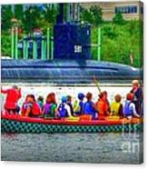 Dragon Boat Challenges Submarine  Canvas Print