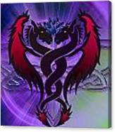 Dragon Duel Series 19 Canvas Print