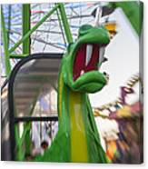 Roar Too The Green Dragon Ride Canvas Print