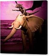 Dragon Riding Elephant Canvas Print