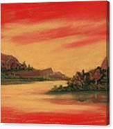 Dragon Sunset Canvas Print