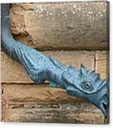 Dragon Waterspout  Chateau De Cormatin Canvas Print