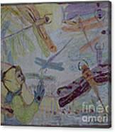 Dragonflies In Winter Canvas Print