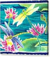 On The Breeze Of Dragonflies Canvas Print