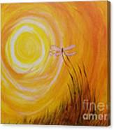 Dragonfly Sun Canvas Print