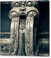 Drainage Ornament On Hindu Seetha Amman Temple In City Seetha Eliya Canvas Print