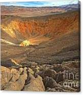 Draining Into The Crater Canvas Print