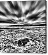 Drama At Freshwater West Mono Canvas Print