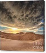 Dramatic Clouds Over The Sand Dunes Canvas Print