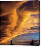 Dramatic Colourful Clouds At Sunset Canvas Print