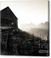 Dramatic Farm Sunrise Canvas Print
