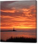 Dramatic Flaming Sunset Canvas Print