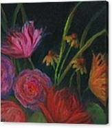 Dramatic Floral Still Life Painting Canvas Print