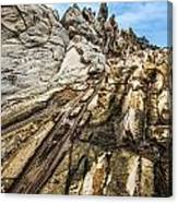 Dramatic Lava Rock Formation Called The Dragon's Teeth In Maui. Canvas Print