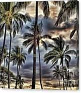 Dramatic Maui Sunset Canvas Print