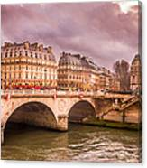 Dramatic Parisian Sky Canvas Print