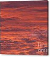 Dramatic Red Sky Canvas Print