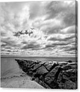 Dramatic Sky At Penfield Jetty Canvas Print