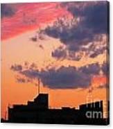 Dramatic Sky Dwarfs Halifax Skyline Canvas Print