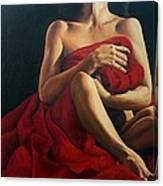 Draped In Red Canvas Print