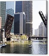 Draw Bridges Of Chicago Canvas Print