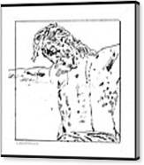 Drawing Of Christ On The Cross Canvas Print
