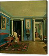 Drawing Room With Columned Entresol  Canvas Print