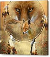 Dream Catcher- Spirit Of The Red Fox Canvas Print