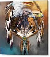 Dream Catcher - Three Eagles Canvas Print