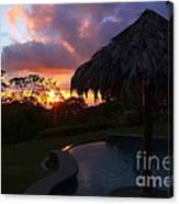 Dream Sunset In Costa Rica Canvas Print