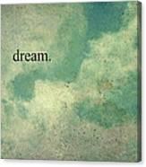 Dream Vintage Sky Pattern Canvas Print