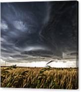 Dreamcatcher - Scenic Storm Over Kansas Plains Canvas Print