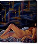 Dreaming Redhead Canvas Print