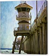 Dreamy Day At Huntington Beach Pier Canvas Print