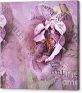 Dreamy Purple Lavender Impressionistic Abstract Floral Art Photography Canvas Print