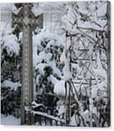 Dreamy Snowy Cross Canvas Print