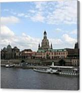 Dresden And River Elbe - Germany Canvas Print