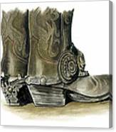 Dress Boots Canvas Print