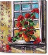 Dressing Room Window Canvas Print